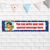 Personalised Grunge Star Photo Banner