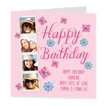 Happy Birthday Script with Photo Uploads - Luxury Greeting Card