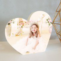 Personalised Heart Shaped photo block