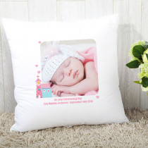 Itsy Bitsy Baby Girl With Photo Upload - Personalised Cushion