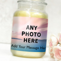 Personalised Easy One Photo Upload with Text - Label