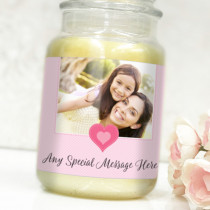 Personalised Love Heart Pink Photo Label