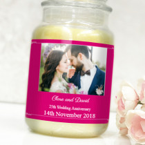 Personalised Pink Frame Photo Label