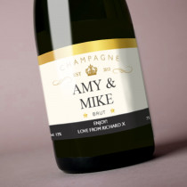 Personalised Gold Champagne Label