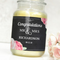 Personalised Black Mr & Mrs Label