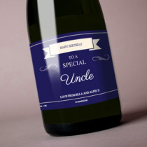 Personalised Blue Any Occasion Label