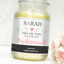 Personalised Pink Bridesmaid Label