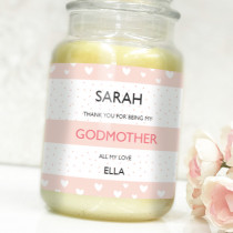 Personalised Pink Godmother - Label