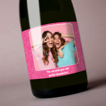 Personalised Pink Text Photo Label