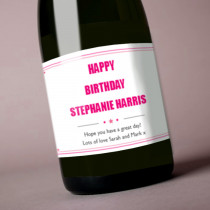 Personalised Any Text Pink - Label