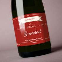 Personalised Red Any Occasion Label
