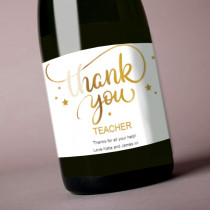 Teacher Gold Thank You - Label