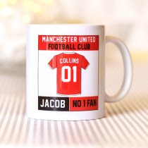 Personalised Manchester United Football Club Mug
