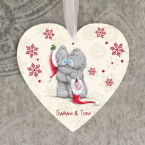Christmas Love Teds Non Photo - Hanging Heart