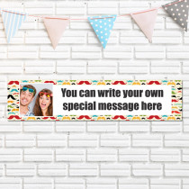 Personalised Moustache Photo Banner