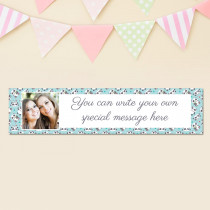 Panda Pattern With Photo Upload - Personalised Banner