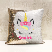 Personalised Unicorn Reversible Sequin Cushion