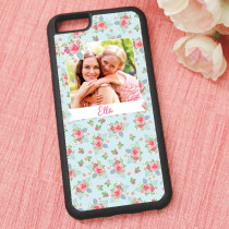 Pink And Teal Rose Pattern - iPhone 6 Case