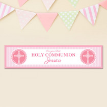 Pink Communion - Personalised Banner