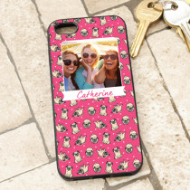 Pink Pug Pattern - iPhone 5 Case