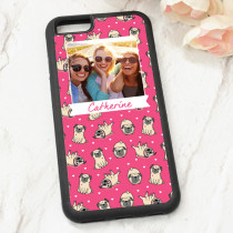 Pink Pug Pattern - iPhone 6 Case