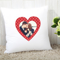 Personalised Photo Red Heart Cushion