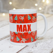 Rudolph and the Christmas Trees with Big Name - Mug