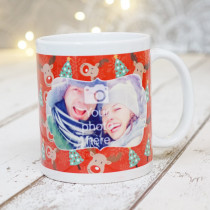 Rudolph and the Christmas Trees with Photo Upload - Mug