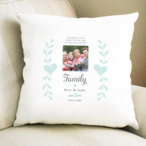 Personalised Sentimental Family Love Never Ends Photo Cushion