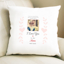 Personalised Sentimental Love You Photo Cushion