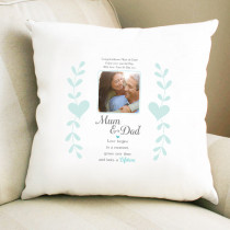 Sentimental Mum Dad Love Begins - Cushion