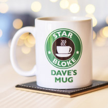Personalised Star Bloke (Starbucks Spoof) Mug