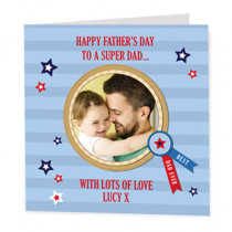 Stripe Super Dad - Luxury Greeting Card