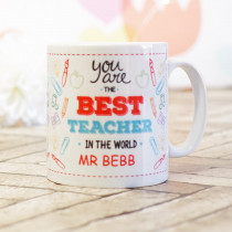 Teacher Best In The World- Ceramic Mug