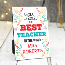 Teacher Best In The World- Photo Frame