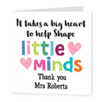 Teacher Shape Minds - Luxury Greeting Card