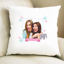 Personalised Tribal Elephant Pattern Photo Cushion