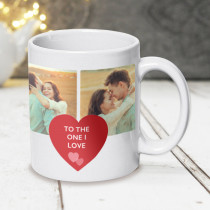 Personalised Four Photo Heart Mug