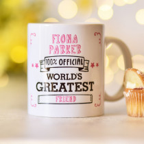 Personalised World's Greatest Pink Mug