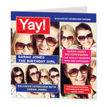 Yay Magazine Spoof with Photo Uploads - Luxury Greeting Card