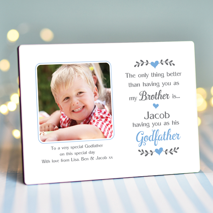 Sentimental Brother Godfather - Personalised Photo Frame