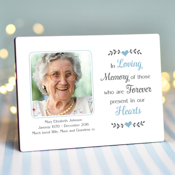 Sentimental Forever In Our Hearts Personalised Photo Frame