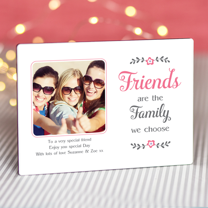 Sentimental Friends Are Family Personalised Photo Frame