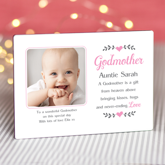 Sentimental Godmother Auntie - Personalised Photo Frame