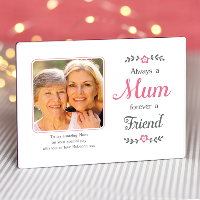 Sentimental Mum Forever a Friend - Personalised Photo Frame