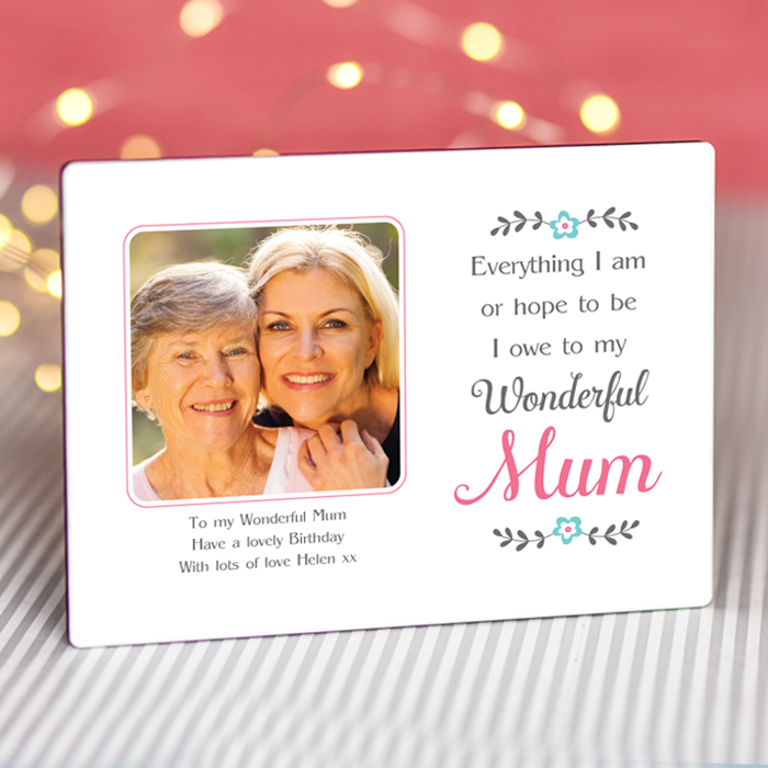 Sentimental Owe to my Mum - Personalised Photo Frame