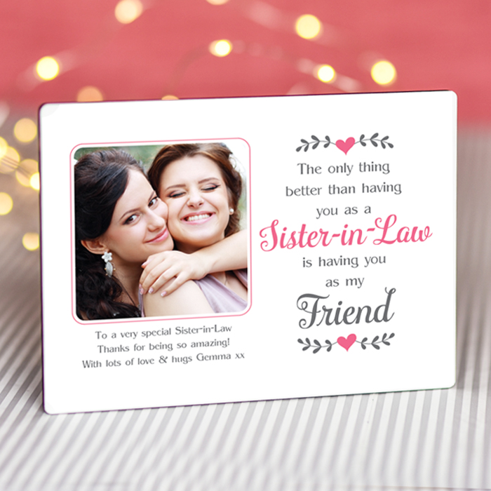 Sentimental Sister-in-Law My Friend - Personalised Photo Frame