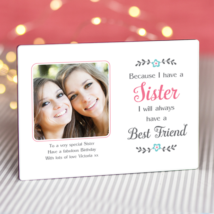 Sentimental Sister - Personalised Photo Frame