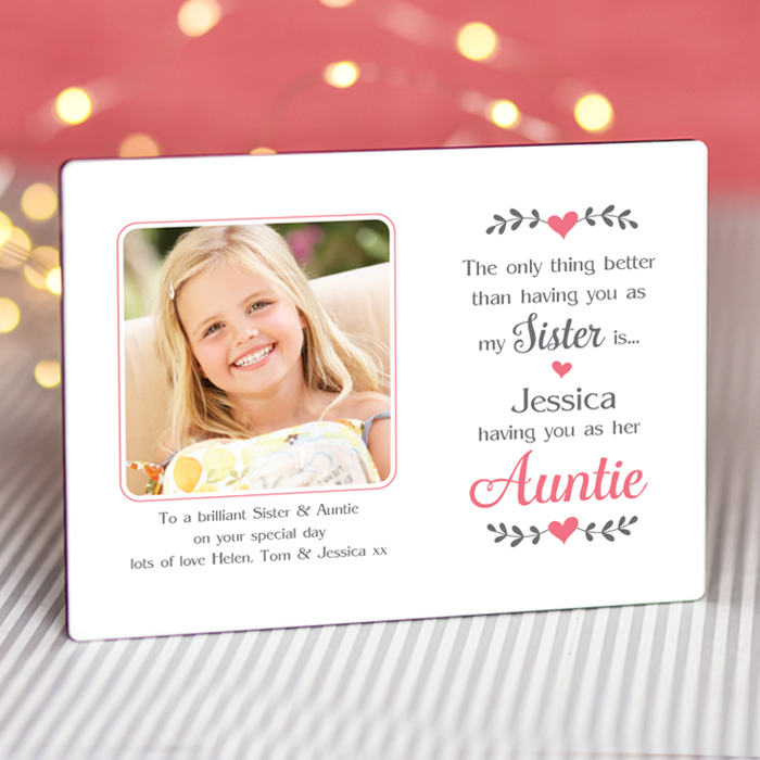 Sentimental Sister Auntie - Personalised Photo Frame