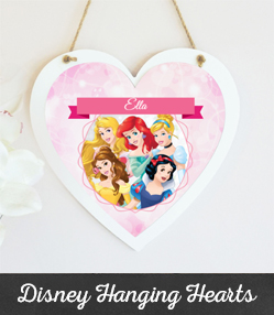 Personalised Disney Hanging Hearts